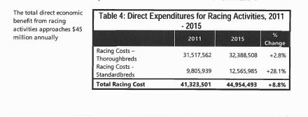 Economic Impacts - Racing